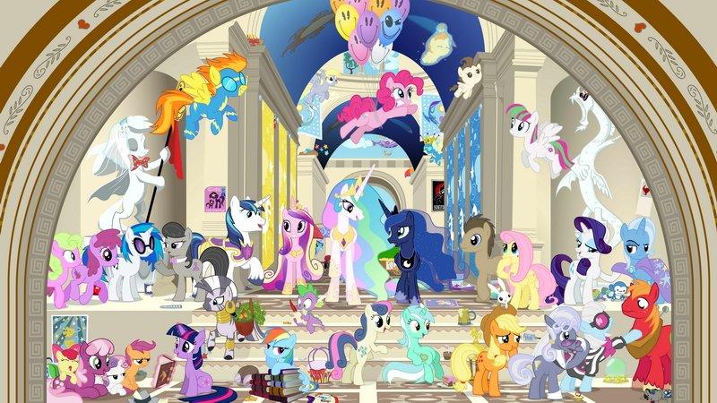 Walltastic My Little Pony Licensed Детские фотообои - Каталог ... | 450x800