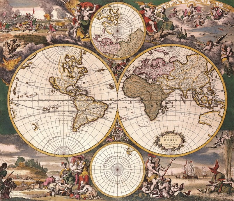 a look at the various colonies that dominated the old world in the 1500s