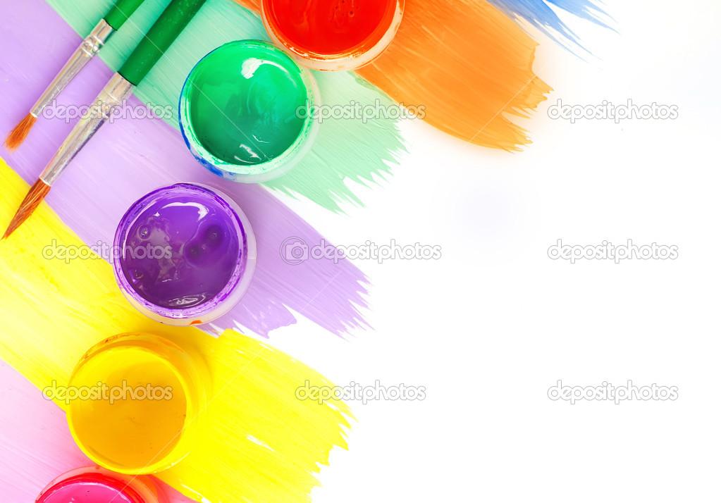 краски и кисти картинки