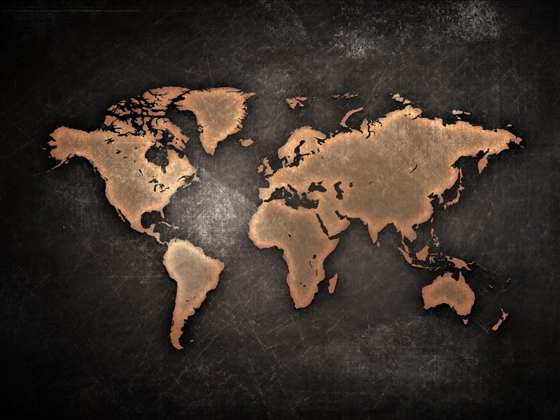 Фотообои карта мира