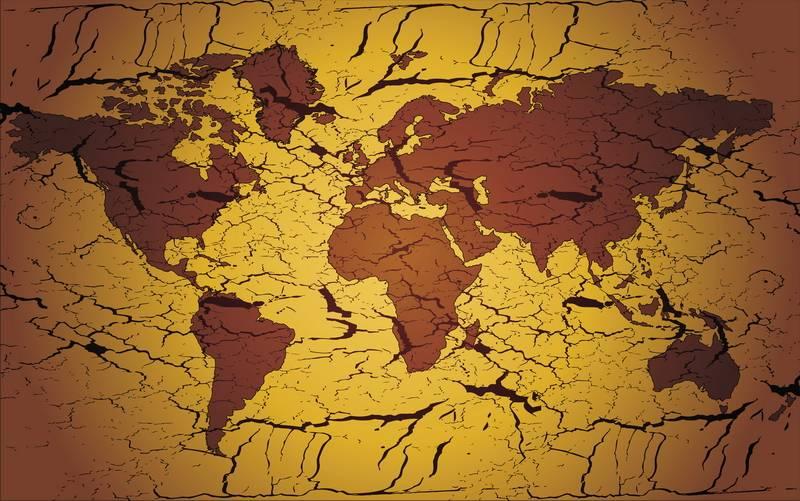 2168cbbf Постер «Абстрактная карта мира» 28401 — zakazposterov.ru