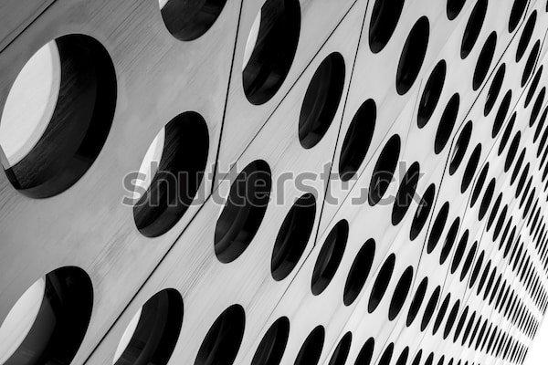 Постер Черно белые души не чает архитектуры реферат с точки  Постер Черно белые души не чает архитектуры реферат с точки зрения симметричный siluet