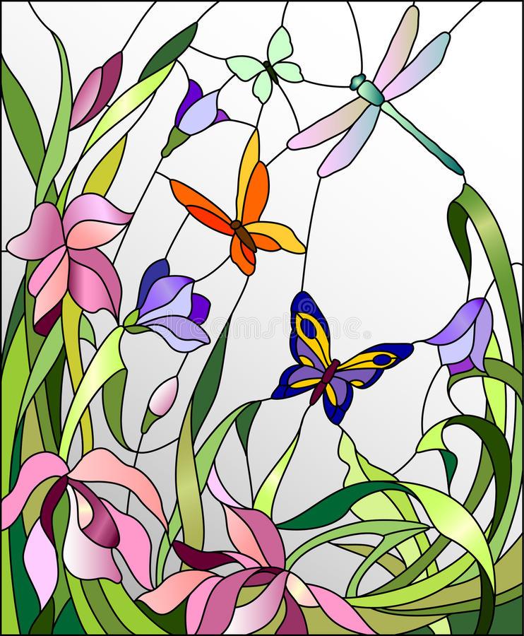 Витражи схемы и рисунки в цвете