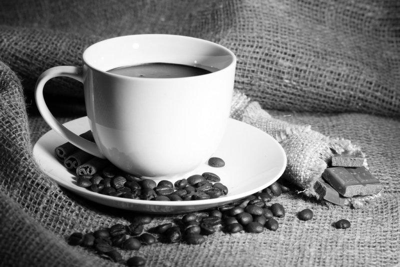 кофе фото черно белое
