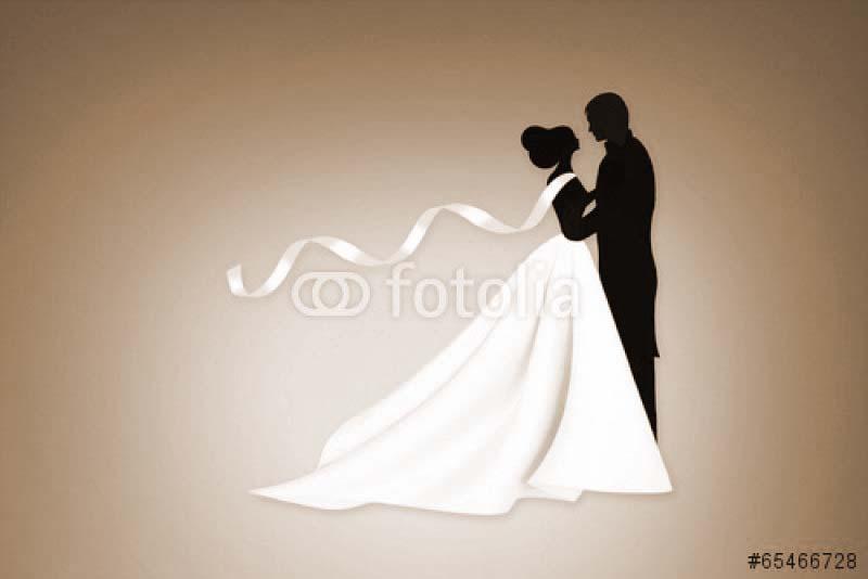Шаблон жениха и невесты для открытки 5